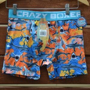 CRAZY BOXER Shark Week Orange Boxer Brief